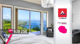 Alusinan – Menuiseries aluminium et PVC Baie vitrée à Sainte-Clotilde
