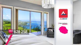 Alunisan – Menuiseries aluminium et PVC Baie vitrée à Sainte-Clotilde