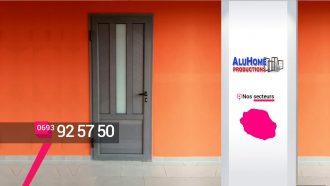ALUHOME PRODUCTIONS – Porte d'entrée et porte d'intérieur à Saint-Louis – Réunion