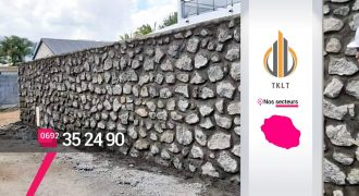 TKLT Construction – Construction mur moellon à Saint-Louis 974