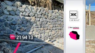 Ekokaz By M2C – Montage de murs en moellons à Saint-Paul