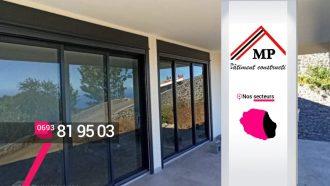 MP Bâtiment Construction – Pose de baies vitrées aluminium à Saint-Louis
